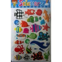 Meer informatie over Vel bubbelstickers vissen