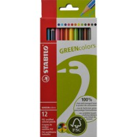 Meer informatie over Stabilo GREENcolors etui - 12 kleurpotloden